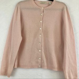 Lord & Taylor Light Pink Two Ply Cashmere Sweater
